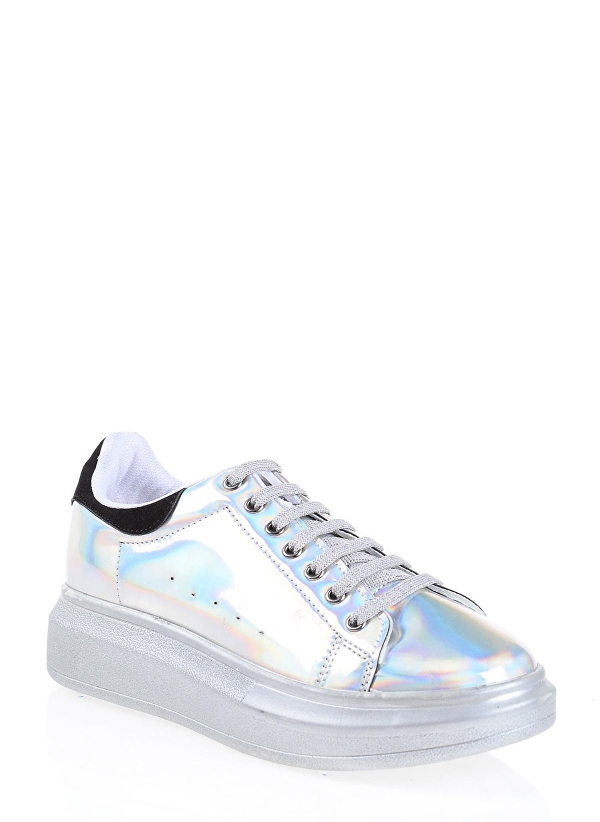 Derigo 152501 Gümüş Bayan Günlük Ayakkabı